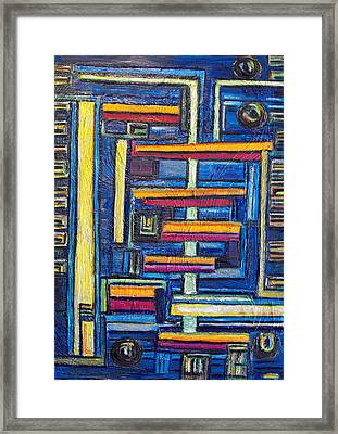 Relations II. Framed Print by Agnes Roman