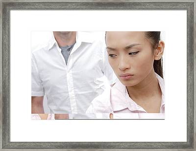 Relationship Trouble Framed Print
