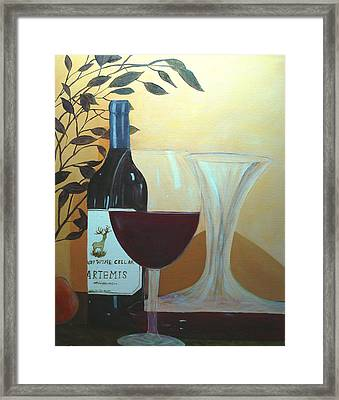 Framed Print featuring the painting Relax And Enjoy by June Holwell