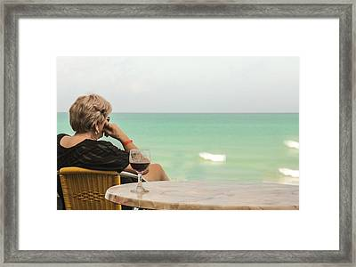 Relax And Enjoy The View Framed Print