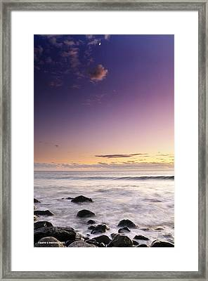 Relax And Moon Framed Print by Cristo Bolanos