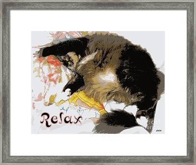 Relax Cat Framed Print