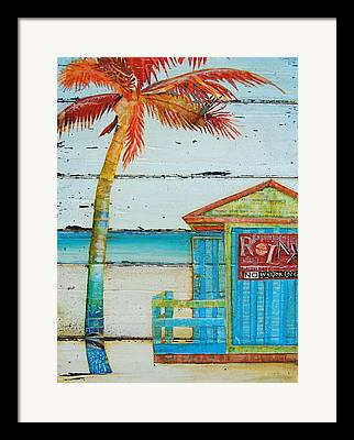 Palm Trees Mixed Media Framed Prints