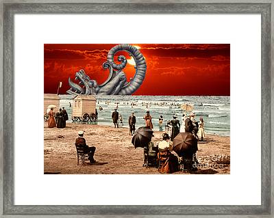 Relax On The Beach Collage Framed Print