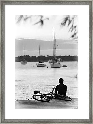 Relax Framed Print by Patrick M Lynch