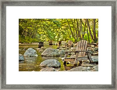 Relax Revivify Rejuvenate Framed Print
