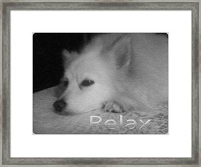 Relax Framed Print by Sherry Gombert