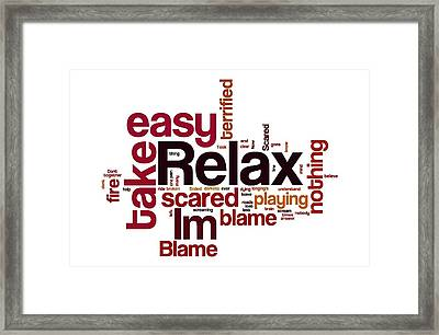 Relax Take It Easy By Mika Framed Print