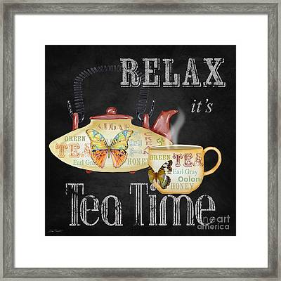 Relax-tea Time-jp2627 Framed Print by Jean Plout