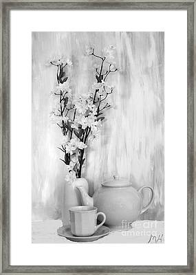 Relax With Tea Framed Print by Marsha Heiken
