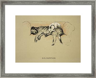 Relaxation, 1930, 1st Edition Framed Print