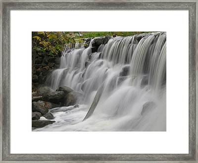 Framed Print featuring the photograph Relaxation Falls by Nikki McInnes