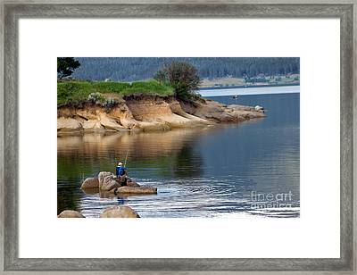Relaxed Fisherman Framed Print by Robert Bales