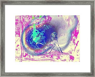 Relaxed Observer Framed Print