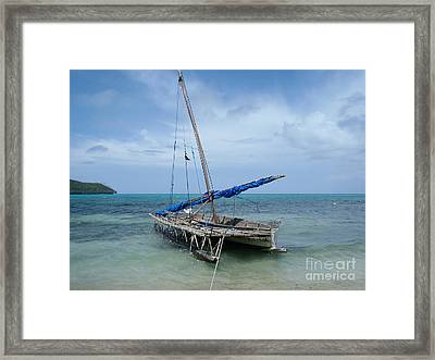 Relaxing After Sail Trip Framed Print by Jola Martysz