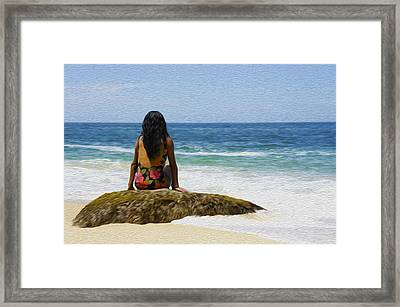 Relaxing Framed Print by Aged Pixel