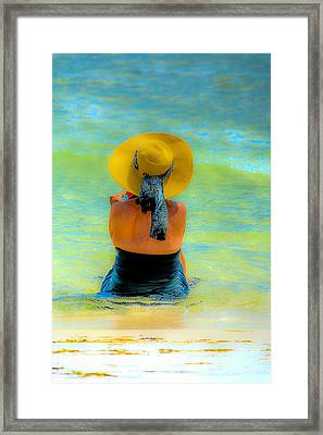 Relaxing At The Beach Framed Print