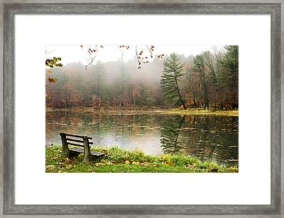 Framed Print featuring the photograph Relaxing Autumn Beauty Landscape by Christina Rollo