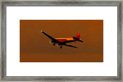 Relaxing Before Landing Framed Print by Marcello Cicchini