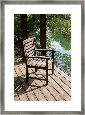 Alone By The Lake Framed Print by Parker Cunningham