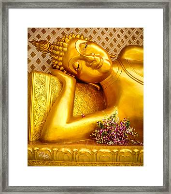 Relaxing Contemplation  Framed Print by Allan Rufus
