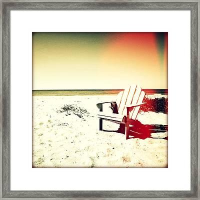 Relaxing Day Sunset Framed Print