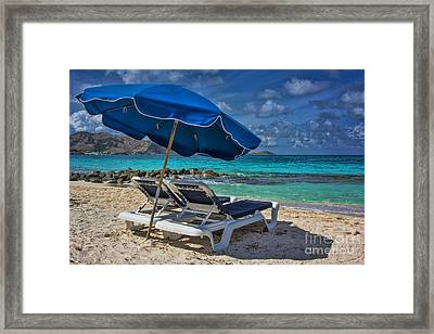 Relaxing In St Maarten Framed Print