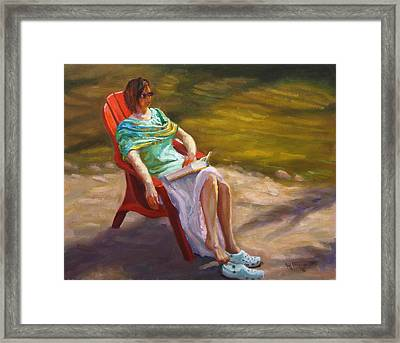 Relaxing On The Kickapoo Framed Print