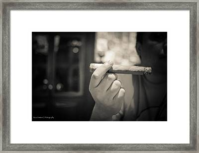 Relaxing With A Stogie Framed Print