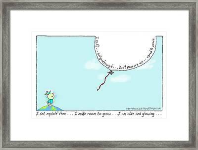 Release Framed Print by Lorraine Mullett