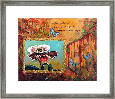 Release -- My Trail Of Tears Framed Print by Carol Allen Anfinsen