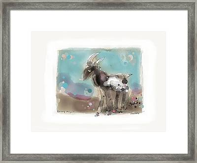 Releasing The Goat Framed Print by Peter Ciccariello