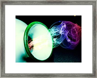 Framed Print featuring the mixed media Releasing The Rainbow Smoke by Ester  Rogers
