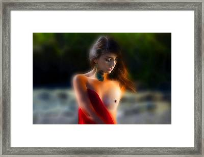 Releasing The Red Framed Print