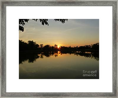Reflections At Dusk Framed Print