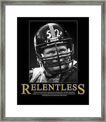 Relentless Mike Webster Framed Print