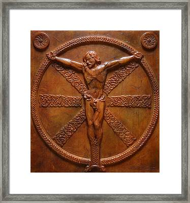 Relic - A Celtic Crucifixion Framed Print by Jeremiah Welsh