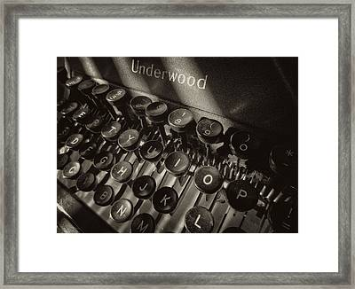Relic In Sepia II Framed Print by Tony Grider