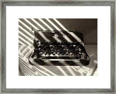 Relic In Sepia Framed Print by Tony Grider