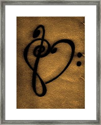 Relic Of Musical Love Framed Print by Kelly Hazel