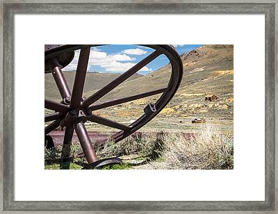Framed Print featuring the photograph Relics Of Bodie by Steven Bateson