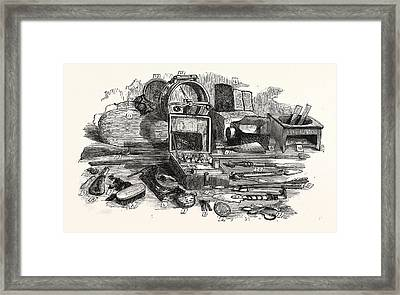 Relics Of The Franklin Expedition Framed Print