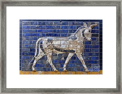 Relief From Ishtar Gate In Babylon Framed Print by Robert Preston