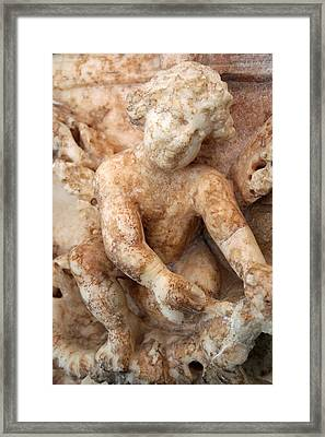 Relief Of A Cherub Framed Print by Tracey Harrington-Simpson
