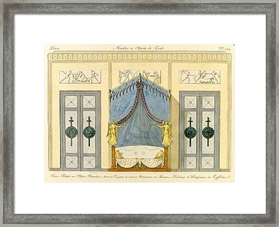 Reliefs In Plaster, Ornaments In Bronze Framed Print by