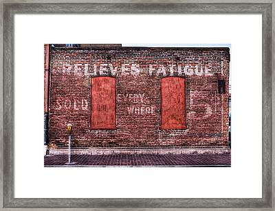 Relieves Fatigue  Framed Print