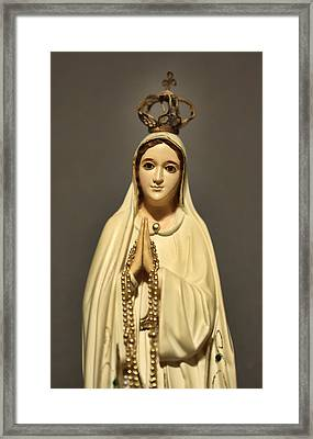 Religion - The Virgin Mary Framed Print by Lee Dos Santos