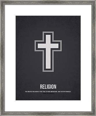 Religion Framed Print by Aged Pixel