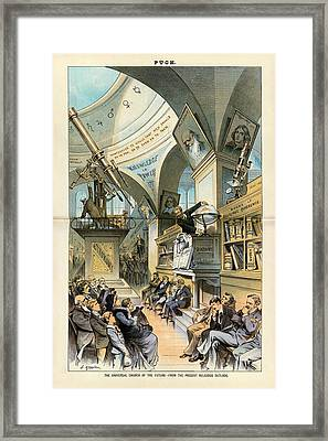 Religion And Science Framed Print