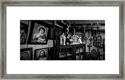 Religion And The Curio Shop Framed Print by Bob Orsillo